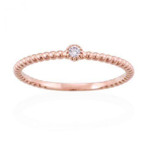 Anillo diamante oro rosa A2426SS Joyeria Rincon