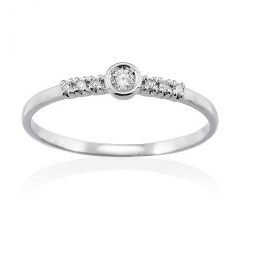 Anillo diamantes oro blanco A2374 Joyeria Rincon
