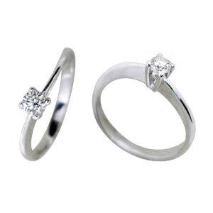 Anillo oro blanco diamante 018421 Joyería Rincón