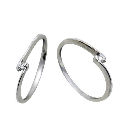 Anillo oro blanco diamante 018672 Joyería Rincón
