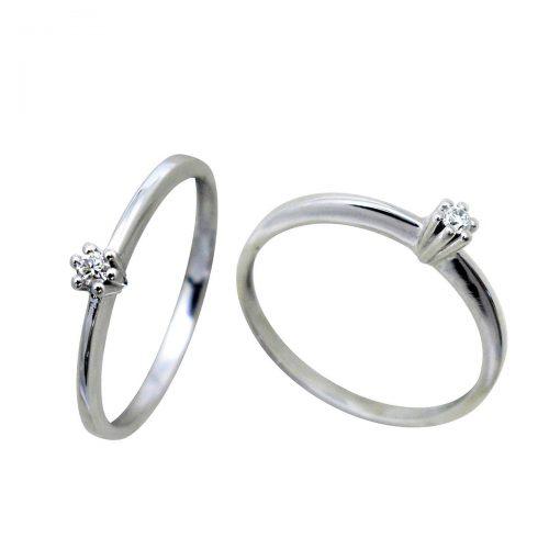 Anillo oro blanco diamante 018677 Joyería Rincón