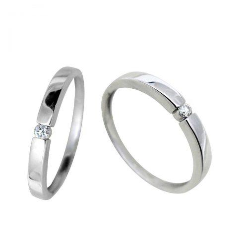 Anillo oro blanco diamante 018678 Joyería Rincón