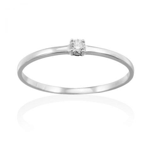 Anillo oro blanco diamante A2373S Joyeria Rincon