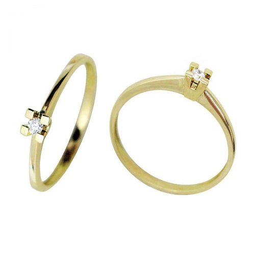 Anillo oro diamante 018680 Joyería Rincón