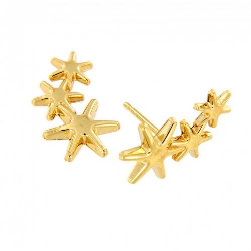 Pendiente estrellas oro trepador 210-945A Joyería Rincón