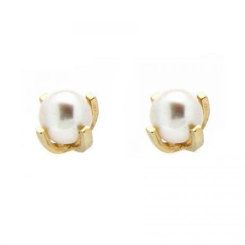 Pendiente bebé oro perla R27-1131-3-G Joyería Rincón
