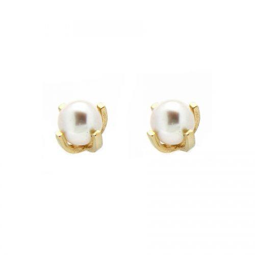Pendiente bebé oro perla R27-1131-3-P Joyería Rincón