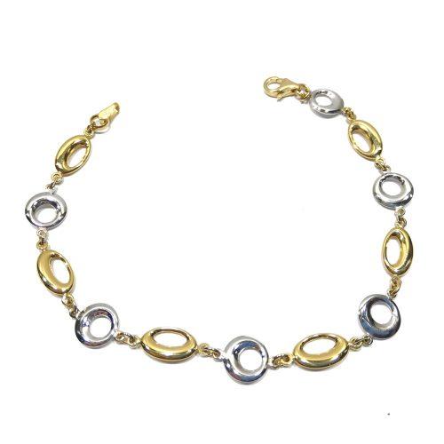 Pulsera oro bicolor 401-00526 Joyeria Rincon
