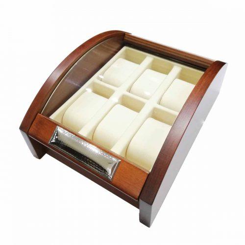 Vitrina relojes madera joyeria Rincon