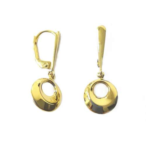 Pendiente oro redondo largo 400-00953 Joyería Rincón