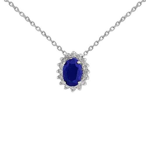 Colgante zafiro y diamantes 543116 Joyería Rincón