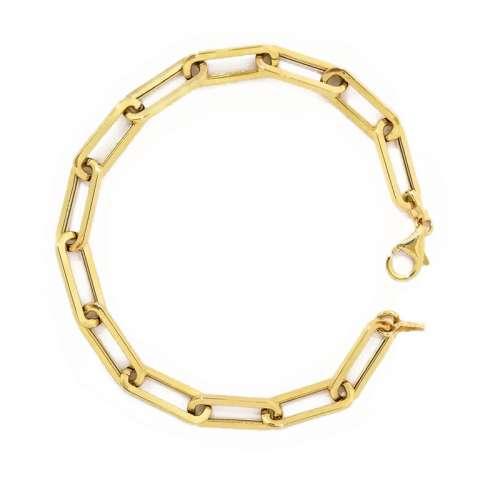Pulsera oro eslabones 458-01398 Joyería Rincon