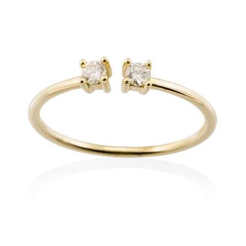 Anillo oro amarillo diamantes A2378A Joyería Rincón