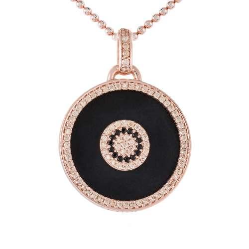 Colgante FULL MOON en plata rosa 90413CS Joyería Rincon