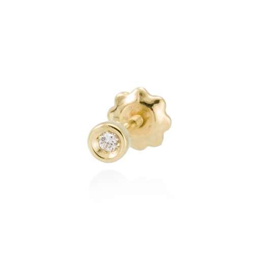 Pendiente Piercing oro diamante A2561PA Joyeria Rincon