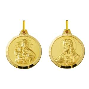 Escapulario Virgen del Carmen oro 575-24