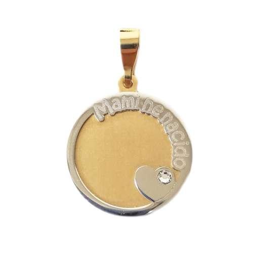 Medalla recien nacido oro