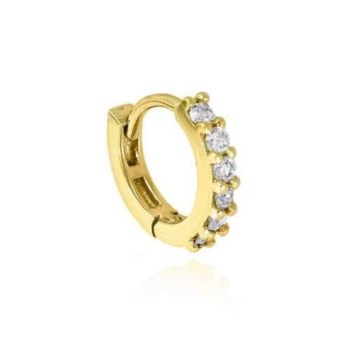 Pendiente piercing oro-18kt y diamantes