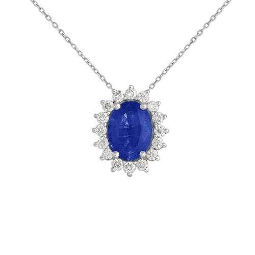 Gargantilla zafiro y diamantes oro 547620 Joyería Rincón