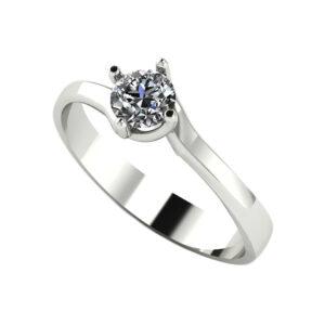 Anillo diamante oro blanco Joyería Rincón