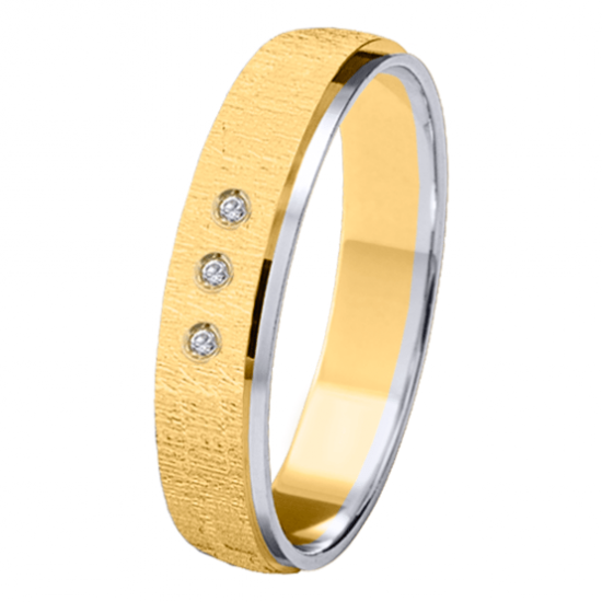 Alianza oro 18k bicolor diamantes 06626AB40P10PN3R